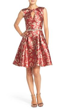 Pamella, Pamella Roland Embellished Jacquard Fit & Flare Dress available at…
