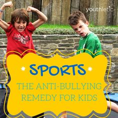 See how sports help kids build confidence and can reduce bullying in school: https://www.youthletic.com/articles/using-sports-in-your-arsenal-against-bullying?utm_source=pinterest&utm_medium=referral&utm_campaign=organic