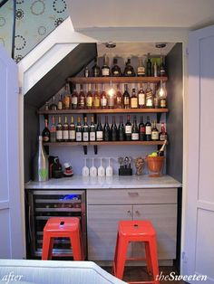 turning space under stairs into a pantry | There are plenty of stylish options...