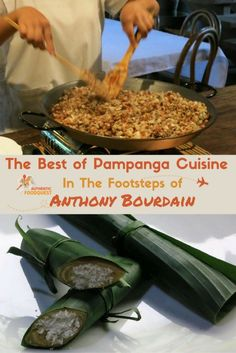 """The Best of Pampanga Cuisine with Chef Claude Tayag and Anthony Bourdain  Located about 65 km or 2 hours north of Manila, Pampanga is referred to as the """"Culinary Capital of the Philippines."""" Not only is renowned for its food, it is also home to the U.S. Clark Air Base, which was once the epicenter of American air operations from the Spanish-American war, WWII, and the Vietnam war."""