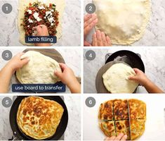 How to make Gozleme - Turkish stuffed flatbreads made with simple no yeast flatbread Turkish Flatbread Recipe, Flatbread Recipes, Scottish Recipes, Turkish Recipes, Romanian Recipes, Gozleme Recipe, Quiche Pastry, Feta Pizza, Short Pastry