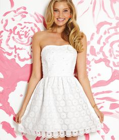 Lilly Pulitzer Spring 2013- Payton Dress in Resort White Pinwheel Organza. Shop this look: http://www.lillypulitzer.com/catalog/product.jsp?style=49810