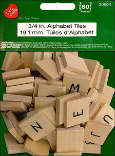 Scrabble tiles for $3.49