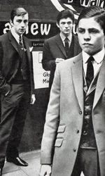 50 years ago the photographer Don McCullin took pictures of the 15 year old Mark Feld and his mod friends in Stamford Hill for Town Magazine. In 1965 Mark changed his name to Marc Bolan and went on to be the pop icon of T-Rex fame. Photo: (from left to right) Miki Simmonds, Peter Sugar, Mark Feld. Town Magazine 1962 by Don McCullin.