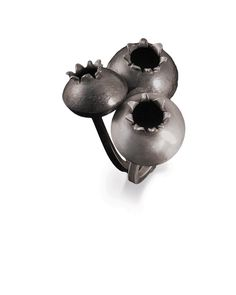 July Featured Artist Amy Casher; Whistlerberry Rings, 2010; sterling silver…
