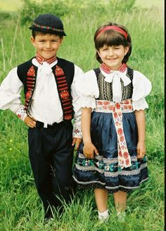 Children from Soblahov, Slovakia Heart Of Europe, Curious Creatures, Folk Costume, My Heritage, Eastern Europe, Kids Wear, Kids Playing, Flower Girl Dresses, Hipster