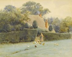 WALTER FREDERICK ROOFE TYNDALE 1855-1943 FEEDING THE CHICKENS