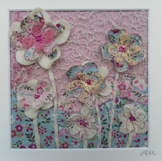 Multicolored fibre art - textile art,