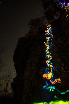 Rock Climbing Light Painting With Long Exposure and Glow Sticks — 5 things I learned today