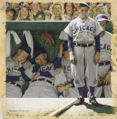 The Dugout (September 4, 1948) The Saturday Evening Post by Norman Rockwell