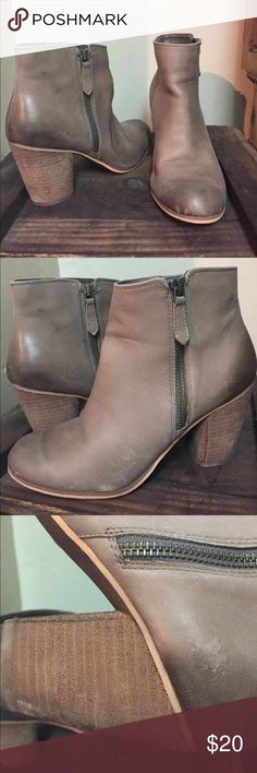 BP Booties Taupe ankle booties with side zipper. About 2.5 inch heel.  Great for the fall paired with skinny jeans or a dress bp Shoes Ankle Boots & Booties