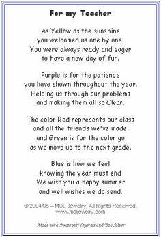 MOL Jewelry Teacher Bracelet---poem to give with bracelet Thank You Poems For Teachers, Teachers Day Wishes, Teacher Poems, Message For Teacher, Student Teacher Gifts, Love Teacher, Teacher Cards, Happy Teachers Day, Teacher Prayer