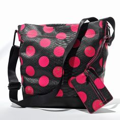Princess Vera Wang Polka-Dot Cross-Body Bag ($24) ❤ liked on Polyvore