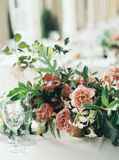 The most beautiful floral design for florist Ariel Dearie's wedding- color palette, bloom choices, design elements- every component is gorgeous Elegant Centerpieces, Wedding Centerpieces, Wedding Bouquets, Wedding Decorations, Wedding Tables, Table Centerpieces, Botanical Wedding, Floral Wedding, Wedding Colors