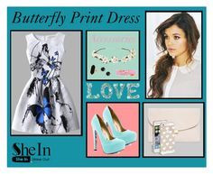 """""""Butterfly Print Dress Outfit"""" by muzzen-miig ❤ liked on Polyvore featuring Cult Gaia, TaylorSays, Jaeger, Irene Neuwirth, Mansur Gavriel and Kate Spade"""