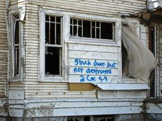 On a house in New Orleans after Katrina. NOLA will always stay close in my heart.
