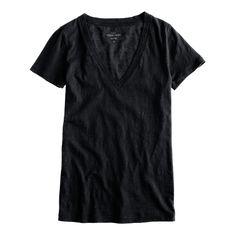 Vintage cotton V-neck tee - short-sleeve tees - Women's knits & tees - J.Crew