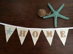 A personal favorite from my Etsy shop https://www.etsy.com/listing/221102179/home-burlap-beachie-banner-made-with