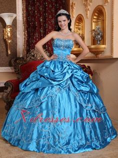 Embroidery with Beading Quinceanera Dress