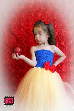 Snow White Inspired Tutu Dress-another idea just change it around a bit with the colors....