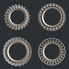 3d STL models for CNC frames Gypsum Decoration, Stl File Format, Round Logo, Ornaments Design, Cnc Machine, Cnc Router, Clock, Pottery, Unique Jewelry