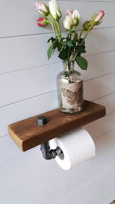Toilet Roll Holder – Shelf – Bathroom Accessories – Toilet Paper Holder – Reclaimed Wood – Bathroom – Loo Roll Holder – Bathroom Storage - Everything About Technology 2019 Toilet Roll Holder Shelf, Toilet Roll Holder Industrial, Loo Roll Holders, Wood Toilet Paper Holder, Toilet Paper Storage, Wood Storage, Storage Ideas, Diy Storage, Storage Shelves