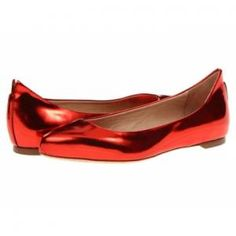 McQ by Alexander McQueen - Leather Pointed Flat Shoes Metallic Cherry - $161.99 (65% off)