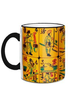 This 11-ounce mug features the Flowers from an intricately carved Chinese Bakelite Mah Jongg set. Absolutely gorgeous!