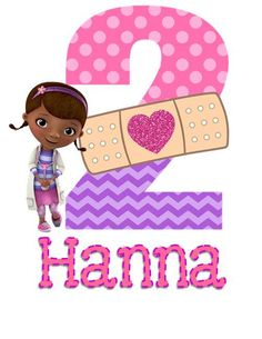 Doc McStuffins Birthday Iron On Applique  with by SayCheezeBaby, $5.00