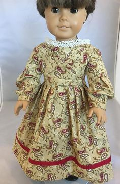 This dress is designed to fit your 18-inch doll. The dress is an everyday dress from the mid 1830s. Sarah Hale was the co-editor of Godeys Ladys Book magazine. She was also the author of Mary had a Little Lamb and integral in establishing Thanksgiving as a national holiday. This