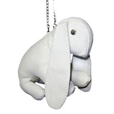 ERNIE - Pre-Order Bunny Bags, Metal Chain, Silver Color, Leather Bag, Python, Mini, Lamb, Ss, Fabric