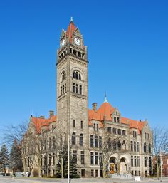 City Hall Building - completed in 1897.  The clock tower can be seen through out the city.