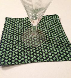 St Patricks day napkins cocktail napkins cotton by FunWithWreaths