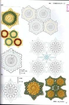 View album on Yandex. Crochet Edging Patterns, Crochet Diagram, Crochet Chart, Crochet Motif, Diy Crochet, Crochet Flowers, Crochet Stitches, Crochet Quilt, Crochet Cross