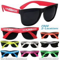 45fad31308e5 Customized Party Sunglasses with 2-Locations | Promotional Sunglasses |  Custom Logo Sunglasses Personalized Products