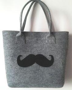 biżuteria soutache, haft koralikowy, torby z filcu: torba moustache