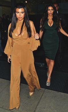 Kourtney And Kim Kardashian, I love them for bringing brunette back! In Hollywood of all palces!