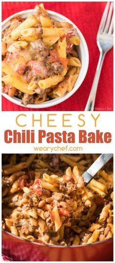 Chili Pasta Bake is a hearty meal loaded with protein. You'll love this quick and easy version of chili mac, and so will your kids!