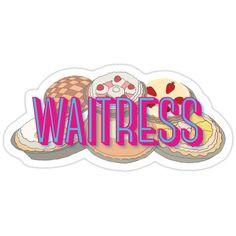 Waitress the Musical Broadway Sticker Waitress Musical, Musical Theatre Broadway, Broadway Shows, Dear Evan Hansen, Lin Manuel, Mean Girls, Music Is Life, Cute Stickers, Musicals