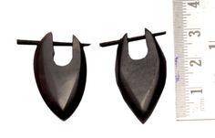 A Pair of Black Organic Fake Stick Wooden  Hobo Wood Earrings Sew_256 #KrsnaJewelsIndia #Stick #Wooden Earrings #Wood Earrings #Stick Earrings From India