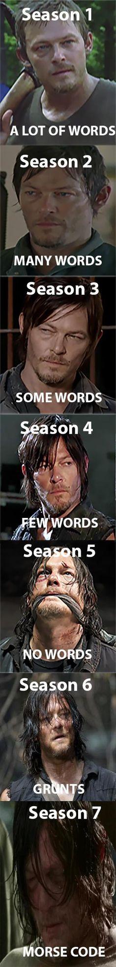 As long as he's in the scene, I don't give a shit what he says. Daryl Dixon Season 1, Daryl Dixon Memes, Twd Memes, Daryl Dies, Walking Dead Zombies, Real Zombies, Daryl Beth, Darryl Dixon, Merle Dixon
