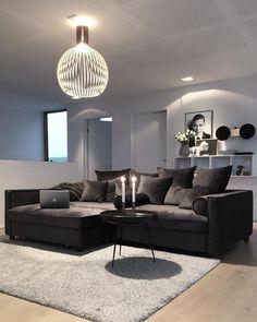 55 black living room decor with minimalist design 3 Minimalist Living Room BLACK Decor Design Living Minimalist Room Home Living Room, Apartment Living, Living Room Designs, Living Room Decor, Black Living Room Furniture, Decor Room, Home Decor, First Apartment Decorating, Luxury Furniture