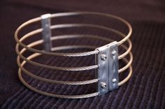 G2 collar stainless steel wire rope posture collar by SirN on Etsy, SirN