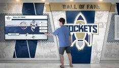Touchscreen digital wall off fame Interactive Touch Screen, Interactive Walls, Interactive Display, School Donations, Donor Wall, Web Platform, Wall Of Fame, Digital Wall