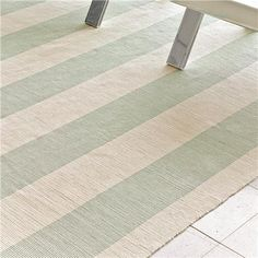 Wide Stripe Flat Weave Rug: 5 Colors from Shades of Light...