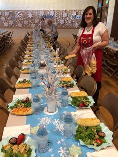 Stake Relief Society Event 2014-  Snowflake theme