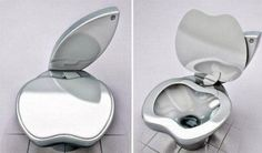 After the bizarre circumstances of all three of my last Apple Computers died on me I believe this! the latest gadget from Apple***Research for possible future project. Latest Gadgets, Toilet Bowl, Duravit, Inventions, I Laughed, Funny Jokes, It's Funny, Funny Pictures, Funny Pics
