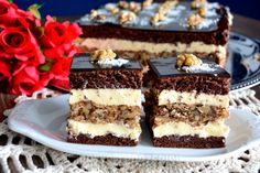 Sweets Recipes, No Bake Desserts, Cookie Recipes, Romanian Desserts, Romanian Food, Pie Dessert, Food Cakes, Something Sweet, Desert Recipes