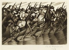 The auctioneers are also holding a separate exhibition of 18 Nevinson prints (mainly First World War period) from a private collection, which will be on view for two weeks alongside the sale. Description from antiquestradegazette.com. I searched for this on bing.com/images