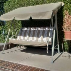 Our Canopy And Cushion Replacements Are Custom Made To Fit Your Patio Swing.  Contact Swing Cushion Covers And More To Order Or Learn More.